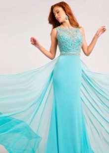 Голубые цвет платье фото