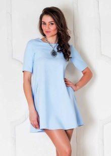 Грязно голубой цвет платья
