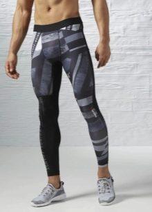 6068b74f8068 Мужские спортивные штаны Reebok (30 фото): компрессионные, зауженные
