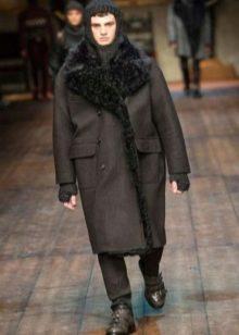 1362c81f3ce Драповое пальто в классическом стиле придаст мужчине элегантности и сделает  его образ привлекательным в глазах девушек. Более молодежный вариант ...
