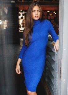 Платье синего цвета можно надеть на вечернее мероприятие или для дневной  прогулки. bb8fd49869c