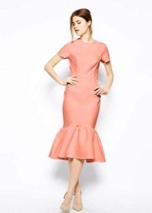 Платье с воланом юбкой