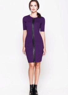 Фиолетовые с черным платья
