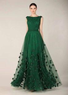 Пышные платья зелёного цвета
