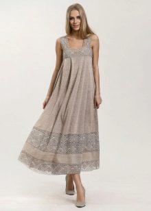 Белые платья из хлопка и льна
