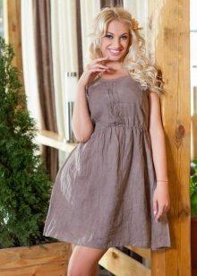 55caf54f26a Льняные сарафаны и платья (50 фото)  из Италии и Турции