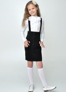 Купить школьную юбку с лямками