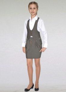 07cbe7181c9 Прямой крой – это строгий и лаконичный вариант школьной юбки. Сзади юбки  допускается небольшой разрез. Пользуется успехом у школьниц старших классов  и ...