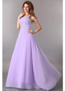 Сиреневые платье в пол