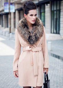 пальто с мехом фото