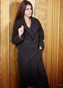 9775d98ae79 Черный цвет придает образу изысканность и изящность. Пальто черного цвета  незаменимая вещь в гардеробе каждой женщины. Такое пальто всегда будет в  тренде.