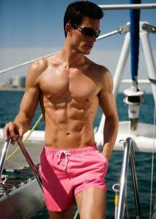 Пляжные мужские шорты (71 фото) 2019  короткие и брендовые шорты для ... 9d5d86fda2fff