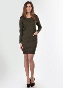 Платье трикотажное прямое фото