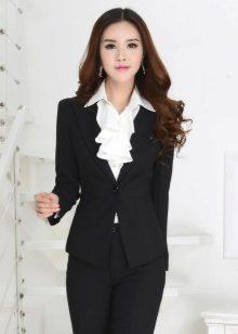 b94106757bf Женский костюм для офиса (69 фото)  стильный офисный для женщин ...