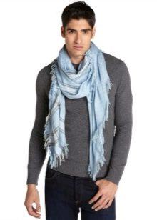 Как завязать шарф мужчине (67 фото): как красиво и правильно завязать мужской шарф, способы завязывания под куртку и на шее