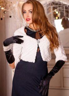 Болеро меховое (31 фото): из искусственного меха, для вечернего платья, детское, накидки, на свадьбу, белое, натуральный мех 687