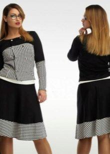 Трикотажные костюмы (58 фото): модные костюмы из трикотажа с юбкой и брюками для девочек, больших размеров для полных