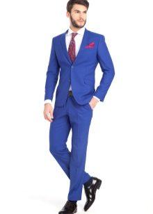 Мужские костюмы на свадьбу синие