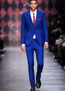 Костюм свадебный мужской синий