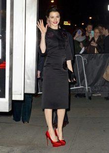 Черное платье с кружевом какие туфли