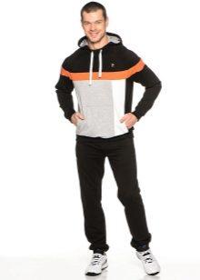 2e8eddf7 Мужские спортивные костюмы изготовляются из трикотажных, велюровых или  смесовых тканей. Теплые и влагостойкие модели производят из болоньи и  плащовки с ...