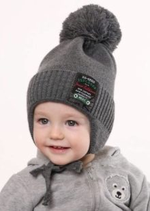 Вязаные шапки для мальчиков 2019-2020 (60 фото)  зимние детские 1daeb98d406e1