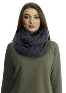 вязаный шарф хомут 60 фото снуд труба на голову и на шею как