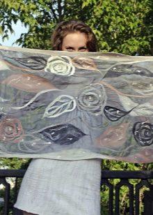 Валяный шарф: валяние мокрое, войлока, паутинка, капуста, шелке, марле, войлочный