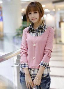 93a88e52c956d76 Платья в корейском стиле обычно имеют свободный или наполовину приталенный  фасон. Грудь в таких нарядах всегда закрыта, никаких провокационных вырезов  или ...