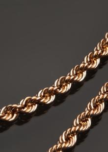 Золотые цепочки на шею плетением снейк