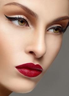 Виды макияжа (45 фото): сексуальный и деловой, классический и; ретро-make-up, техника нанесения варианта; петля.