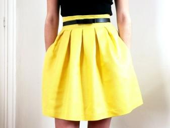 Желтая юбка картинки