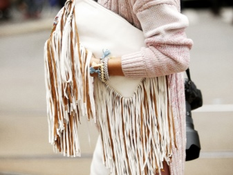 Сумка с бахромой (46 фото): с чем носить, замшевая, женская