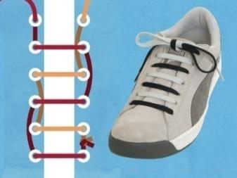 47c2882b Такое количество дырок наиболее известно и встречается максимально часто.  Зашнуровать такую обувь можно любым вышеперечисленным способом.