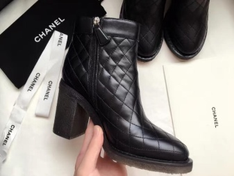 Ботинки Сhanel (18 фото): женские, зимние моделии и трендовые с цепями