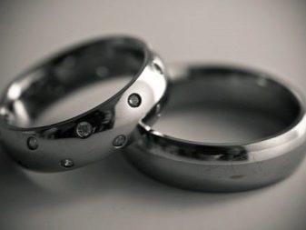 Обручальные кольца из титана: шайбы, парные свадебные шайбы из черного вольфрама и отзывы