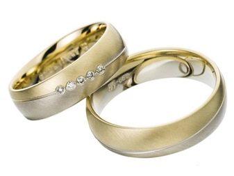 Обручальные кольца с камнями (46 фото): женское украшение с черными камешками по кругу