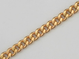 Якорное плетение золотой цепочки фото
