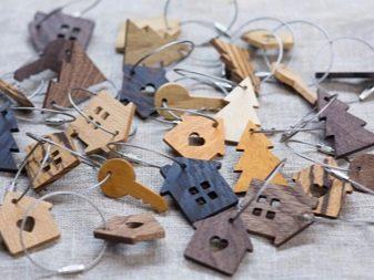 Брелок из дерева: модели для ключей в гостинице с деревянными бусинами, с логотипом в виде сердца из дерева