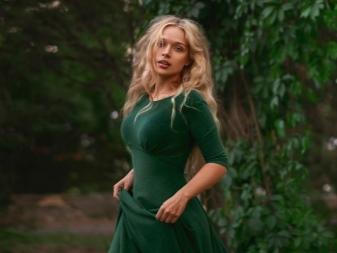 Вечерний макияж с зеленым платьем