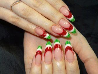 Маникюр - арбуз - (29 фото): летний - арбузный - дизайн, арбузики и киви на ногтях в виде долек, как сделать капельками, пошаговое руководство