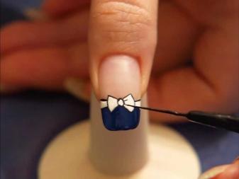 Маникюр с бантиком (18 фото): идеи 2022 для ногтей с бантом
