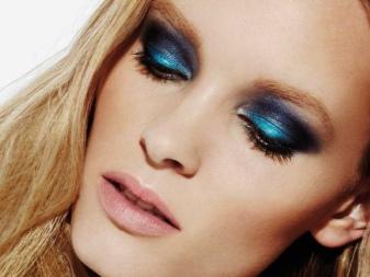Вечерний макияж для голубых и серо-голубых глаз: пошаговое нанесение и особенности легкого make-up для блондинки и брюнетки