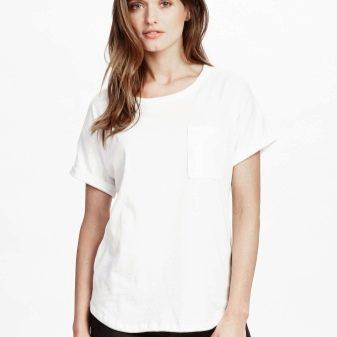 Белая футболка (90 фото): с чем носить, как выбрать, образы и луки 2018