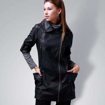 276ddd7e9de Длинные кожаные курточки часто дополняют элегантными лацканами и  увеличенными карманами. Часто однотонные курточки простого кроя дополняют  вставки из ...