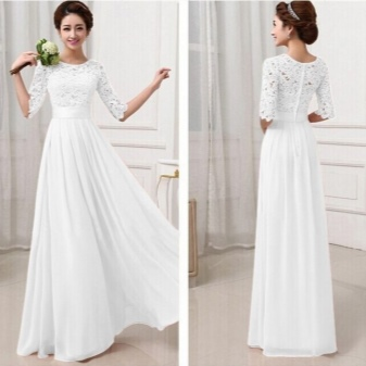 Белое платье пол фото