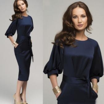 строгое платье на работу для девушек стильное
