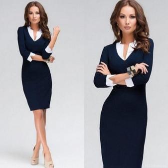 Фото деловые строгие платья