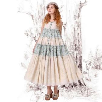 Белые платья из легкой ткани