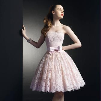 Пышные платья на выпускной 2018 (63 фото): 11 класс, с корсетом, бальные, до колена, миди с пышной юбкой